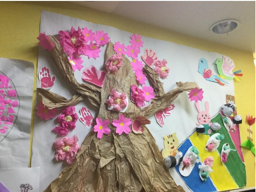 【所沢】「桜・お花見」をテーマに制作